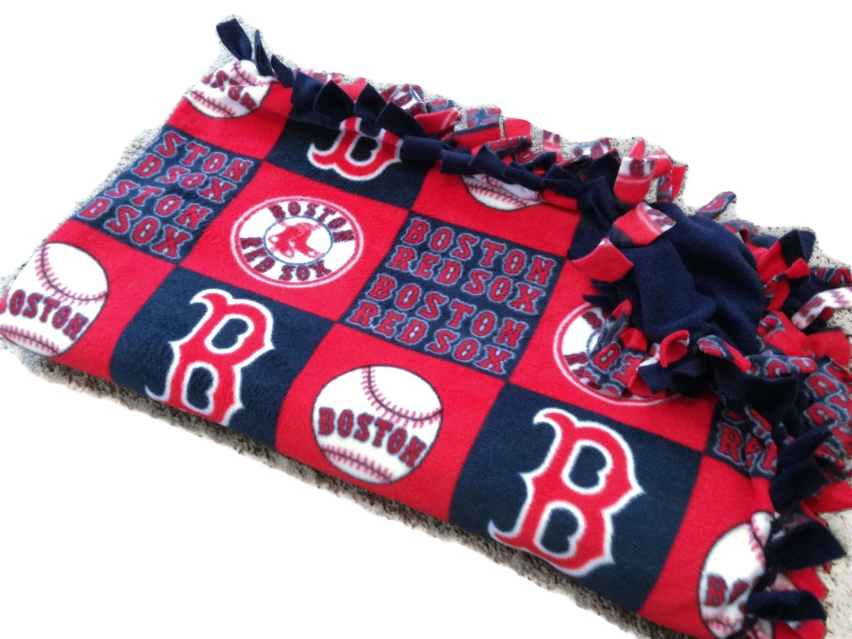 Boston Red Sox Tie Blanket Mlb Baseball By Blanketsunlimited