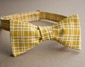 Five Gold and White Patterned Bow Ties