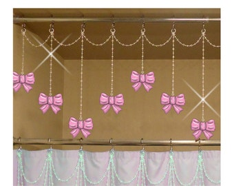 Bows...Shower Curtain Bling Charms/Ornaments...Set of 12.