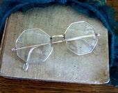 Vintage 12K Gold Filled Octagon Eye Glasses