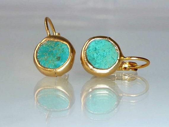 turquoise earrings simple everyday ocean jewelryframed. Black Bedroom Furniture Sets. Home Design Ideas