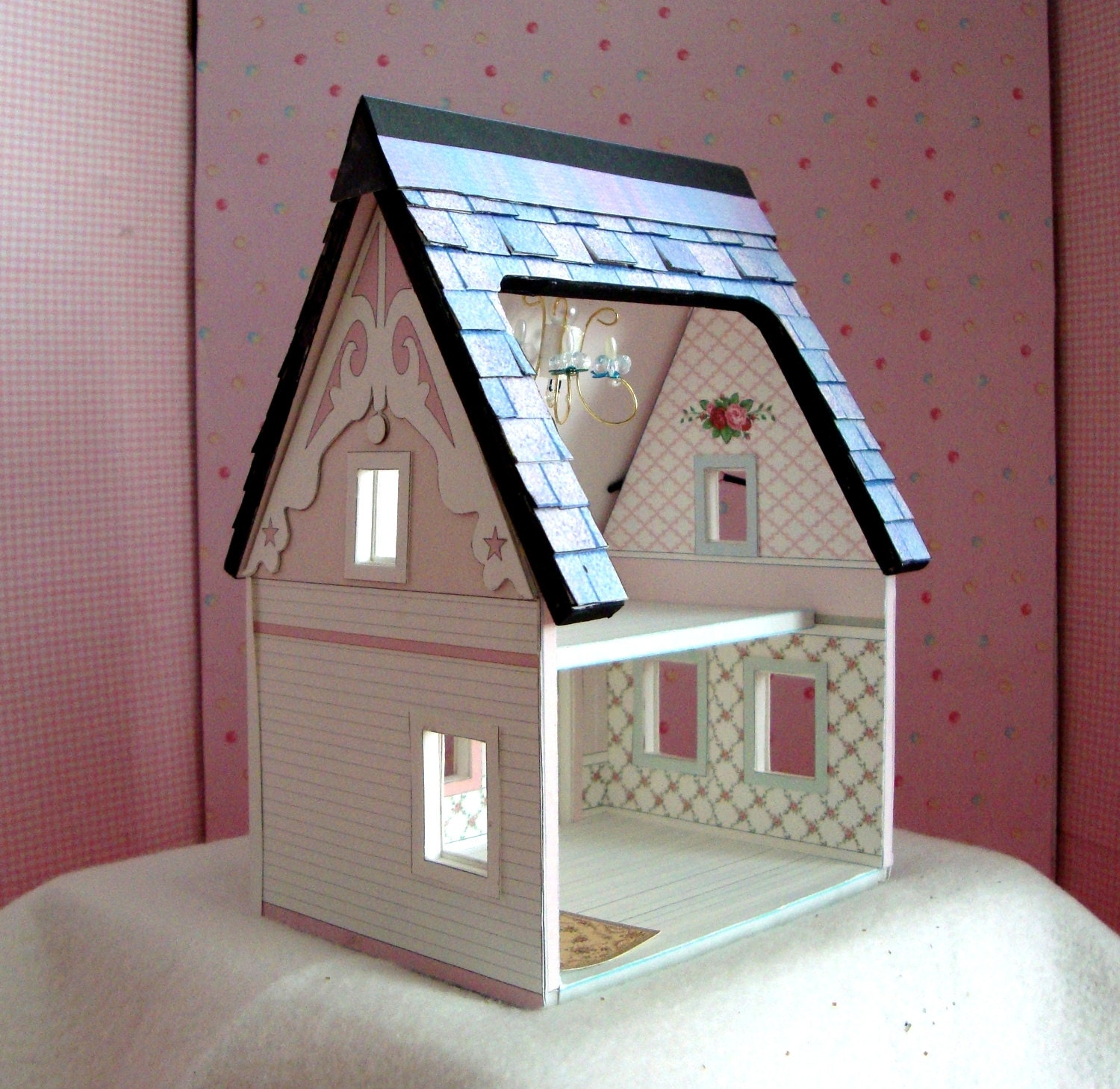 Dollhouse Miniature A Printable Paper Dollhouse In Quarter