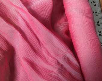 Iridescent Silk Chiffon MAGENTA/BLUE GRAY