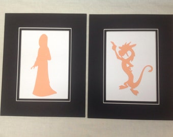 1 Mulan 5 x 7 Silhouette - You pick the image from 5 images, including Mulan, Mushu, Cherry Blossom Tree, Fan or Umbrella
