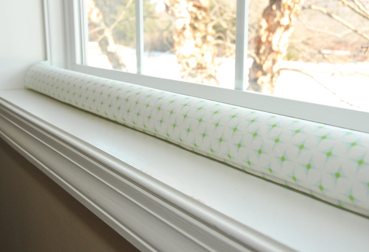 Door draft stopper white draught excluder heather by for Door wind stopper