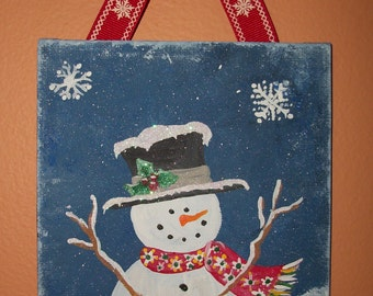 Personalized Snowman Wall Decoration