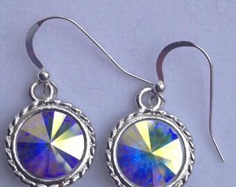 Swarovski Crystal AB Rivoli Earrings