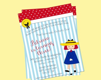 Printable Madeline Birthday Invitation