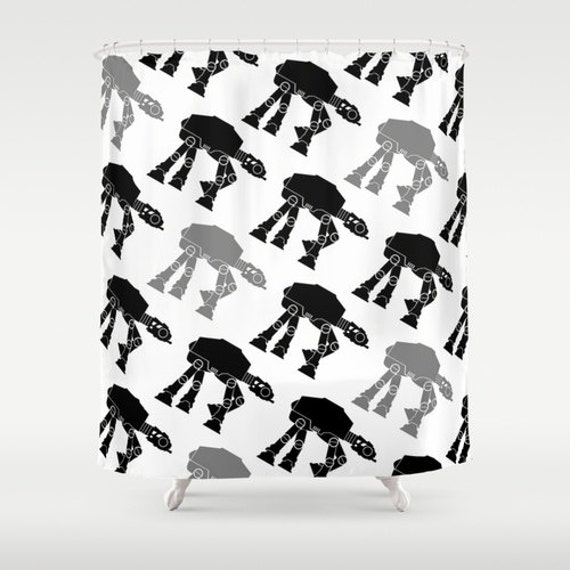 Star Wars Black and Gray AT-AT's Shower Curtain by foreverwars