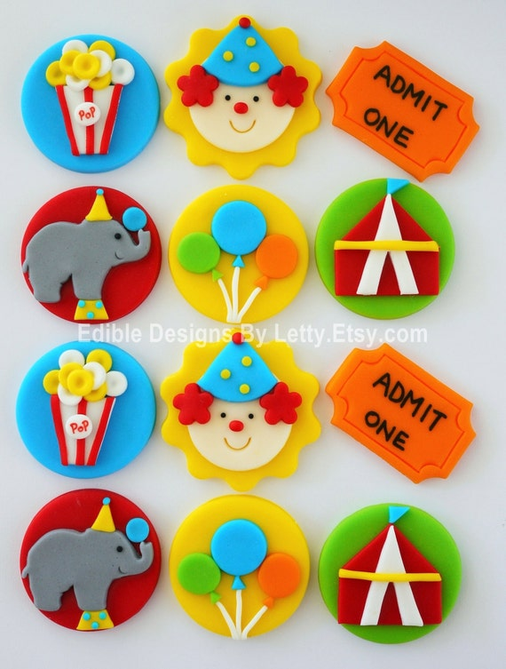 circus theme cake toppers