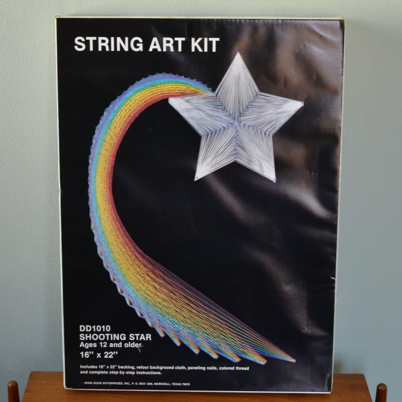 Vintage shooting star string art kit