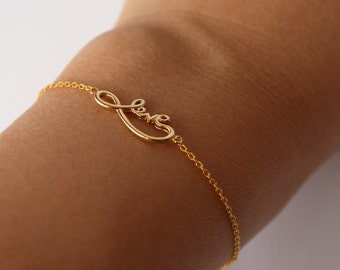 infinity love bracelet - gold