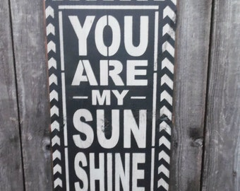 wooden sign, wall decor, you are my sunshine, subway art, wall hanging, chevron