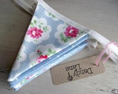 Polka Dot And Floral Regular Bunting in Cath Kidston Florals in Blue And Pink