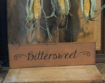 Bittersweet, primitive, farm house,fall,home decor,wooden sign