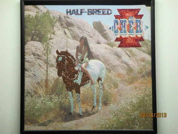 Glittered Record Album - Cher - Half-Breed