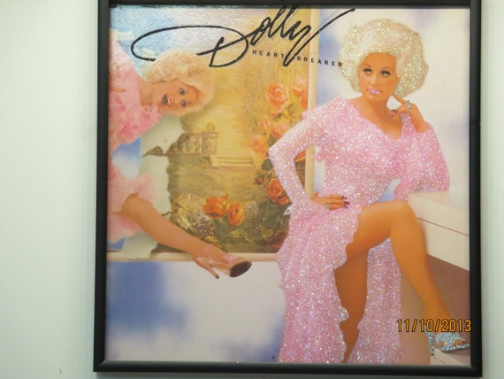 Glittered Record Album - Dolly Parton - Heart Breaker