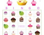 Cupcake Bingo Instant Download