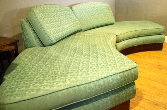 Vintage Sofa Semi Circle Couch Mid Century By