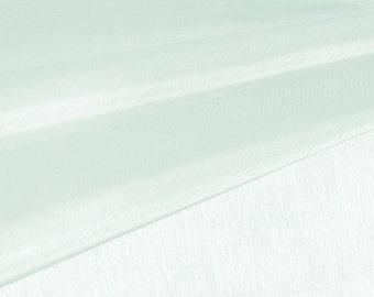 Pale Mint Organza Fabric by the Yard, Wedding Decoration Organza Fabric, Sheer Fabric - Style 1901