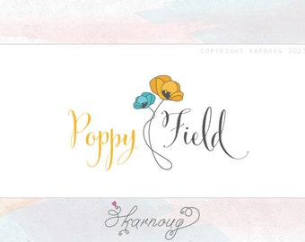 One of a kind, Custom, Premade, Hand drawn, Poppy, Photography, Boutique Logo Design
