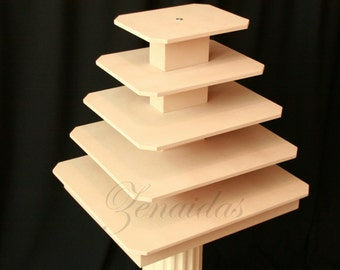 Rectangle Cupcake Stand XX Large 170 Cupcakes MDF Wood With Rod Cupcake Tower Display Stand Wedding Stand DIY Project