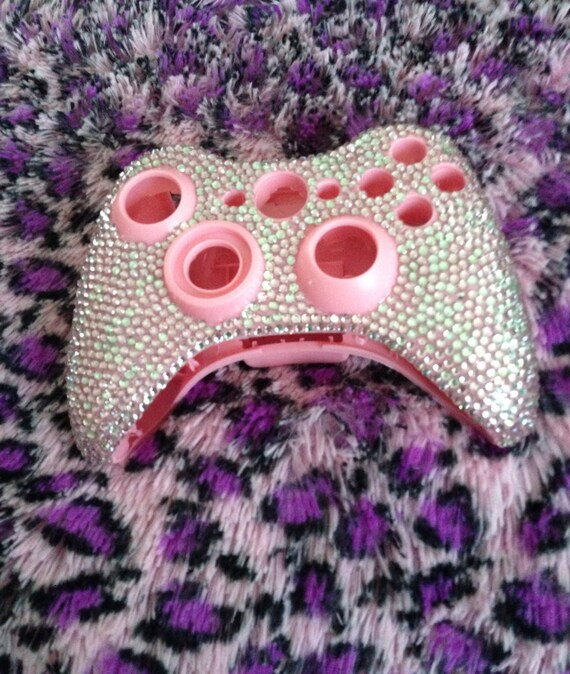 SALE Pink jeweled xbox 360 controller shell