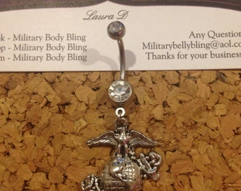 Clear with EGA Belly Ring