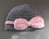 Baby Girl Hat Baby Hat with Bow Newborn-6 months