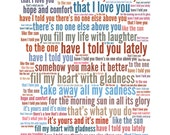 Printable Christmas Gift For Boyfriend / Girlfriend / Husband / Wife - Song Lyric Art You Can Print At Home