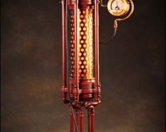 Tessaquinary Table Lamp: a hand-made steampunk styled lamp