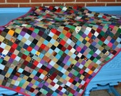 Corduroy Stamp Quilt with Upcycled Corduroy