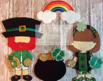 The Wearin' O' The Green: St. Patrick's Day Outfits and Accessories for Felt Dolls