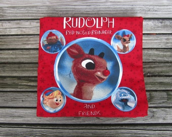 Rudolph the Red Nosed Reindeer Cloth Book Toy Plush Book Christmas Toy Book