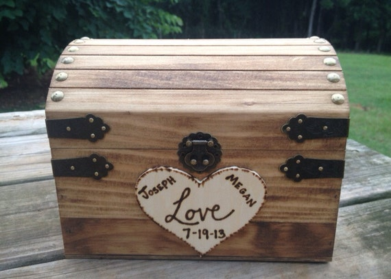 Rustic Wedding Chest - Love Letter Chest - Love Notes Chest - Rustic Wedding - Wishing Tree - Wishing Well Chest