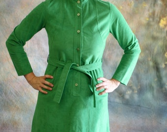 Vintage 70's Belted Shift Dress, Ultra Suede - Samuel Roberts by Cele Petersen