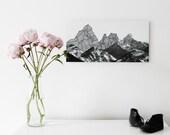 Photographic illustration collage on Alu-Dibond - mountain landscape