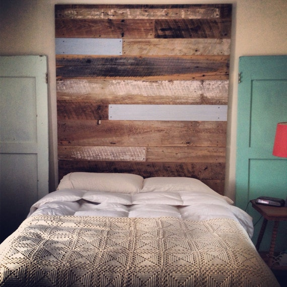 reclaimed wood headboard tall