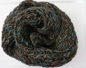 Brown and Teal Scarf 62