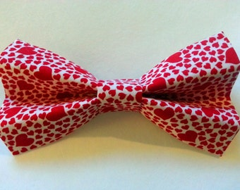 Valentine's Day Red Hearts Bow Tie for Dog, Cat