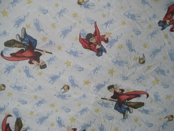 Harry Potter Twin Size Flat Sheet Bedding Craft Fabric Used