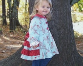 SALE..Buy 2 get 1 Free..Instant Download PDF Sewing Pattern Jessamine Ruffle Back Girls Coat Jacket Hood or Collar 6-9m to 8