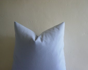 """16"""" by 16""""Sky Blue 100% Wool Pillow Cover"""