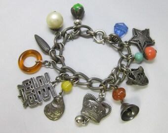 Vintage Napier Charm Bracelet  - Rare -