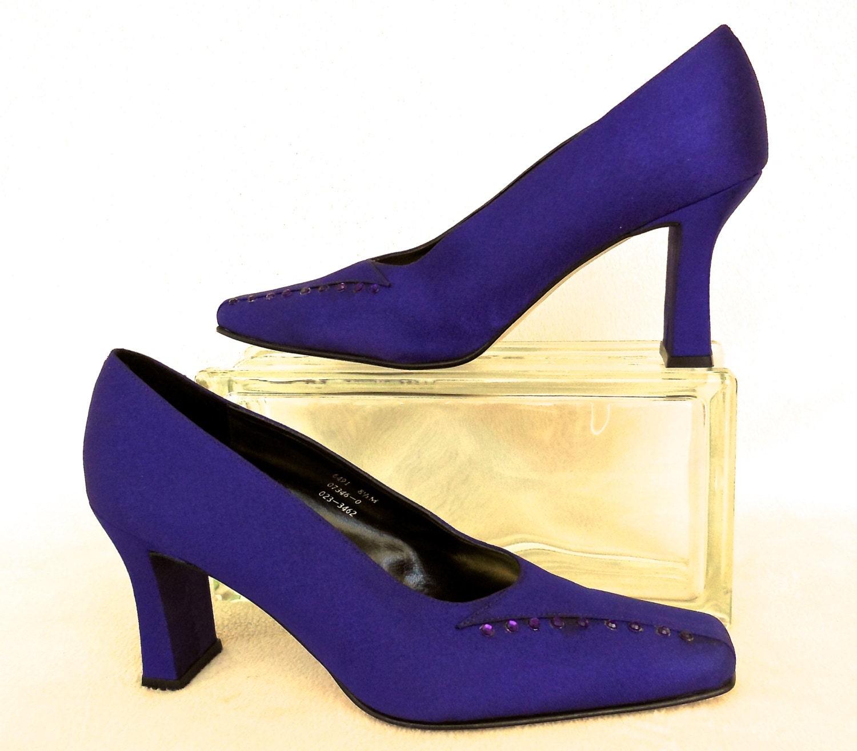PURPLE High Heels/Purple Pumps/Satin High Heels/Purple Dress