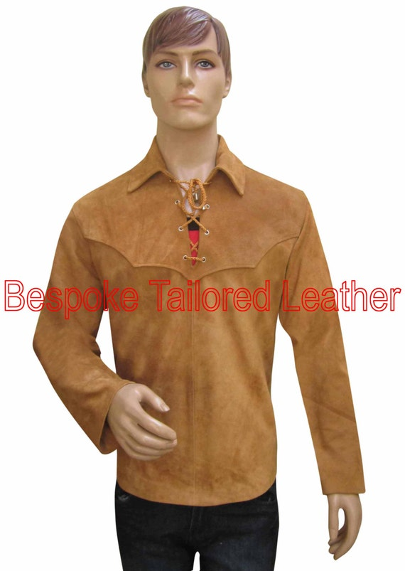 Leather shirt suede leather custom made to order bsh011 for Made to order shirts online