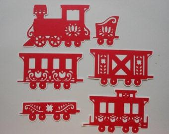 Die Cut Card Stock Train -cc