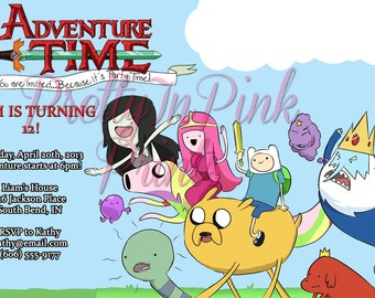 Adventure Time Invitation