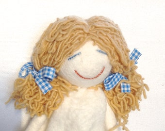 Felt doll - wet felted - hand embroidered - home decoration - 3 model