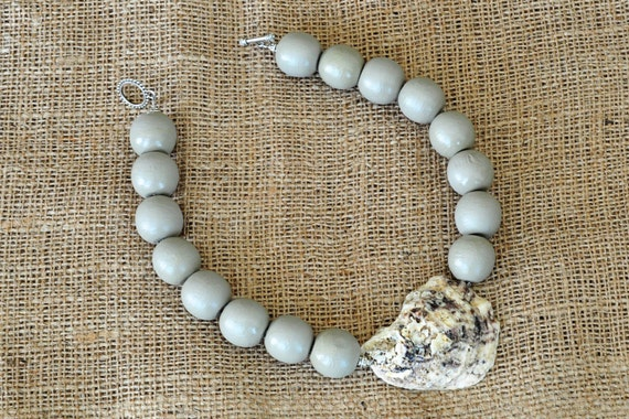 handmade oyster shell bead necklace the wilmington